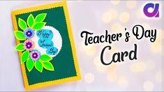 Teachers Day Card/ Teachers Day Card Making Idea/PopUp Greeting Card for Teacher Handmade Teachers Day Cards, Teachers Day Special, Greeting Cards For Teachers, Teachers Day Greetings, Greeting Card Video, Teacher Cards, Handmade Greetings, Greeting Cards Handmade, Slider Cards