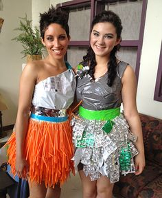 Trashion fashion! See more at the Trashion Fashion Show in Hartford on April 20th. Designs by sugarplum USA.