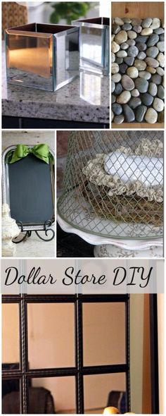 Dollar store diys. This site has links to other great projects and how to's like building adirondack chairs and ana white furniture. Look!