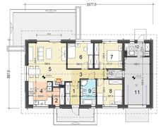DOM.PL™ - Projekt domu DL Terrier 4 z garażem CE - DOM RK1-31 - gotowy koszt budowy Dream House Plans, Terrier, Floor Plans, How To Plan, Houses, Men, Arquitetura, House Floor Plans, Homes