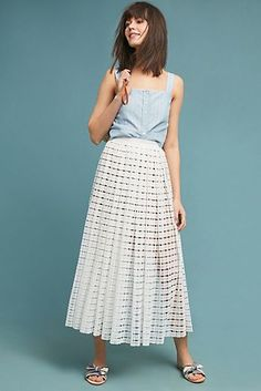 Tracy Reese Lace Midi Skirt