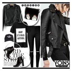 """Yoins 6 (1)"" by alejla ❤ liked on Polyvore featuring Yves Saint Laurent, Lulu Guinness, adidas and yoins"
