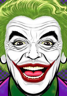 Cesar romero joker by Thuddleston.  Batman '66