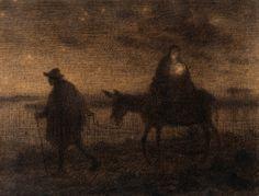 Flight into Egypt by Jean-François Millet, 1814-1875. #christmas, #art