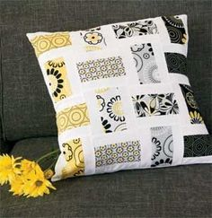 Crazy for Daisies: FREE Quick Sophisticated Throw Pillow Pattern Designed by BEA LEE featured & One day my couch will look like this too!! From: Crazy Mom Quilts ... pillowsntoast.com