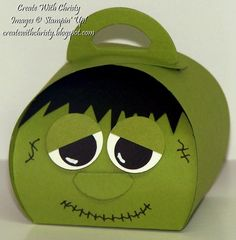 Stampin' Up! Curvy Keepsakes Box Frankenstein - Create With Christy - Christy Fulk, Stampin' Up! Demo