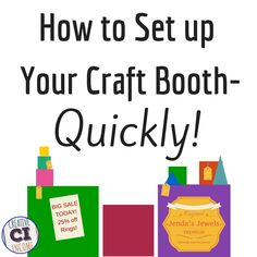 Depending on what type of handmade product you are selling, setting up your craft booth could be either super easy or extra time consuming! Mallory Whitfield has been doing craft shows for over 10 … Show Booths Set Up Craft Show Booths, Craft Booth Displays, Craft Show Ideas, Display Ideas, Vendor Displays, Jewelry Displays, Hanging Jewelry, Craft Business, Business Ideas