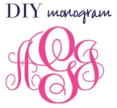 cameo silhouette diy circle monogram | Create Monograms WITHOUT Photoshop!