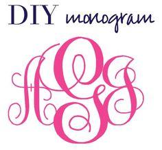 cameo silhouette diy circle monogram | Create Monograms WITHOUT Photoshop!