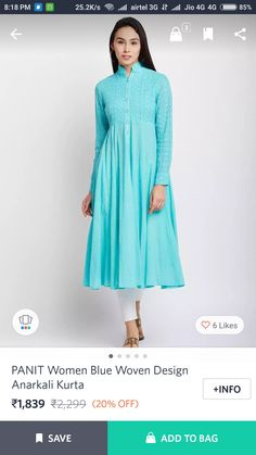 Kurtis, Dresses With Sleeves, Long Sleeve, Fashion, Moda, Gowns With Sleeves, Fashion Styles, Fasion