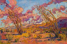 "Saatchi Art Artist Erin Hanson; Painting, ""Dance of Ocotillos"" #art"
