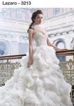 Lazaro 3213 Wedding Dress. Lazaro 3213 Wedding Dress on Tradesy Weddings (formerly Recycled Bride), the world's largest wedding marketplace. Price $2350.00...Could You Get it For Less? Click Now to Find Out!