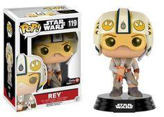 Funko Pop Star Wars The Force Awakens | Rey with x-wing helmet gamestop exclusive