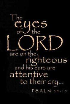 Psalm 34:15