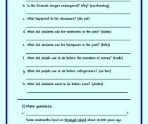 BusyTeacher has free downloaded worksheets for grammar, vocabulary, and skills