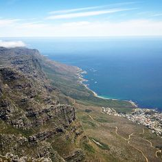 Beautiful view of the Cape Town coastline