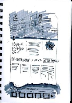 Sketching is a technique mainly used by designers for web and graphic design projects.There are times you get stuck and frustrated in design process of a Web Design Tips, Graphic Design Projects, Page Design, Design Process, Example Of Website, Ui Web, Cool Sketches, Web Layout, Website Design Inspiration