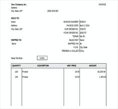 Free Invoice Template  Sample Invoice   Bakery