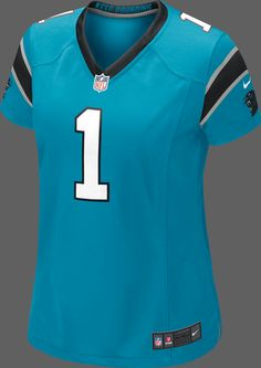Cam Newton jersey - blue - would love to add this to my collection! Carolina Panthers Football, Panther Football, Panther Nation, Cam Newton, My Collection, I Dress, Fitness Fashion, Nike Women