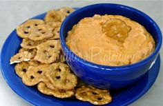 Quick and easy buffalo dip with no ranch (I would half the hot sauce).