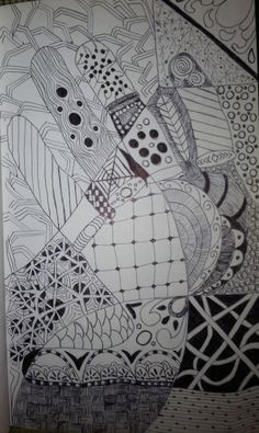 Zentangle Hand by: Tina Lonabarger