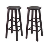 "Found it at Wayfair - 30"" Bar Stool Overall: 30"" H x 13.6"" W x 13.6"" D $76 for two"