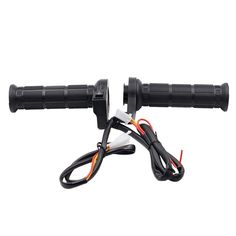 """Daily Deals $11.98, Buy Motorcycle 7/8"""""""" 22mm Hot Grips Electric Hand Heated Handlebar Warm handle ATV Warmers Universal Grip Adjustable Temperature"""
