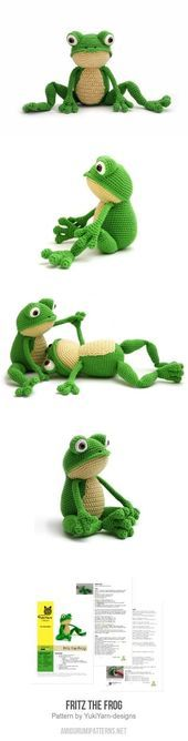 Mesmerizing Crochet an Amigurumi Rabbit Ideas. Lovely Crochet an Amigurumi Rabbit Ideas. Crochet Frog, Crochet Amigurumi, Cute Crochet, Amigurumi Patterns, Crochet Crafts, Crochet Dolls, Knit Crochet, Amigurumi Doll, Crochet Shawl