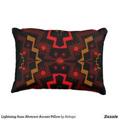 Lightning Suns Abstract Accent Pillow