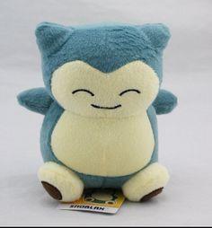 "2015 1pcs 6""15cm Pokemon Plush Toy Snorlax Plush  Anime New Rare Soft Stuffed Animal Doll For Kid Gif KaBiShou"