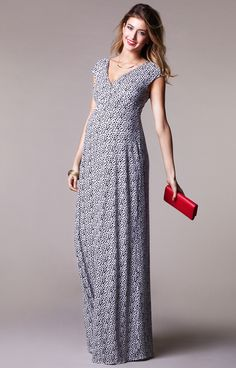 f118359fe5 Alana Maternity Maxi Dress Snow Leopard by Tiffany Rose Maternity Maxi