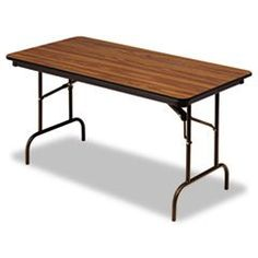 - Premium Wood Laminate Folding Table, Rectangular, 60w x 30d x 29h, Oak -