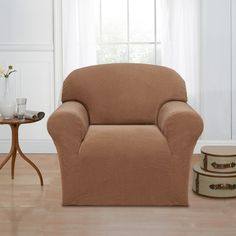 Basketweave Stretch Chair Slipcover  http://www.overstock.com/9562132/product.html?CID=245307
