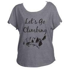Let's Go Climbing Womens Off Shoulder Shirt