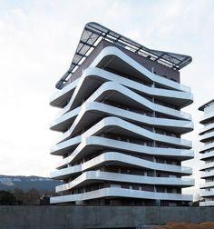 Logements Quai de la Graille, Grenoble, 2014 - ECDM Architectes #facade #balconies