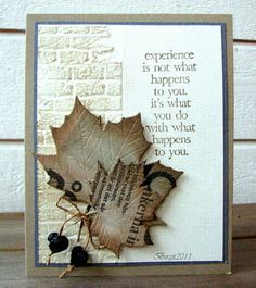 Gorgeous use of embossing and leaves!