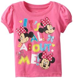 Minnie Mouse Baby Girls Disney It All About Me Tee Hot Pink 12 Months ** Want additional info? Click on the image. (This is an affiliate link) #BabyGirlTops Cartoon Outfits, Disney Outfits, Outfits For Teens, Boy Outfits, Disney Girls, Baby Disney, Girls Tees, Shirts For Girls, Baby Girl Tops