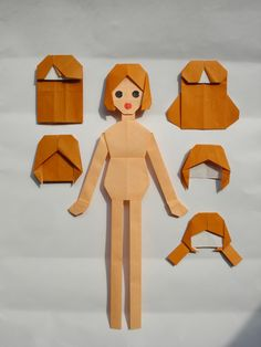 Origami Paper Doll ~ creepy but cool! Origami And Kirigami, Paper Crafts Origami, Diy Origami, Origami Tutorial, Origami Toys, Origami Design, Diy Papier, Paper Folding, Paper Toys