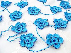 Ravelry: Beaded Crochet Flower Lariat, Necklace, Scarf pattern by Nez jewelry
