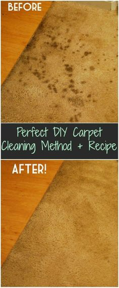 Perfect Carpet Cleaning Method + Recipe