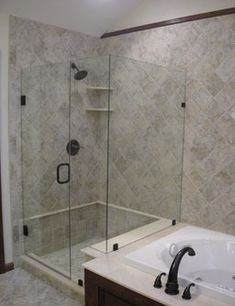 Frameless units give a more contemporary open look to your shower by eliminating a majority of the metal framework around the glass. Most frameless units utilize 3/8″ or 1/2″ glass and their design options are too numerous to list.