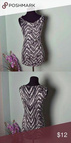 Gorgeous LOFT Grey & White Blouse Size M. Excellent condition. LOFT Tops Blouses