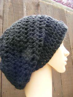 slouch hat crochet pattern | black slouch hat crochet tam.