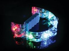 Illuminated Tambourine - Expressive Special Needs Toy Special Needs Toys, Light Colors, Colours, Tambourine, Led Lamp, Transformers, Aqua, Lights, Stocking Fillers
