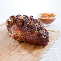 Slow-Roasted Pork Shoulder with Peach Sauce Recipe - America's Test Kitchen