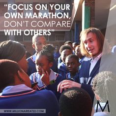 Millionaire at is a book written by Albert van Wyk, one of the youngest millionaires in South Africa. Learn from a South African Millionaire. Dont Compare, Monday Quotes, Become A Millionaire, Marathon, How To Become, Van, African, Books, Inspiration