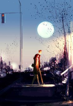 """""""If Life Was Made On Canvas"""": Heartwarming Illustrations By Pascal Campion Couple Illustration, Digital Illustration, Pascal Campion, Couple Art, Illustrations, American Artists, Amazing Art, Concept Art, Art Photography"""