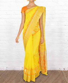 Chanderi Silk Sarees CSVT010 - Pure Silk Sarees