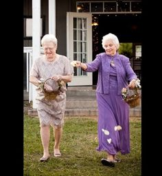 your grandmothers as your flower girls?  yes.  - - 100 Sentimental Wedding Ideas You'll Want to Steal