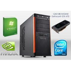 ONE Gamer-PC Core i7-860, 4x2,8Ghz (Quadcore), 4 GB DDR3-RAM, 750GB HDD SATA2, DVD-Brenner, 1280MB NVIDIA Geforce GTX470, 7.1 Sound, GigaBit-LAN, HDMI, DVI, inkl. Microsoft Windows 7 Home Premium 64-Bit